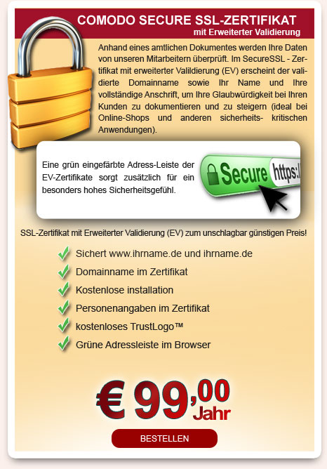 SSL - Zertifikate - nodeeps corporate hosting & service